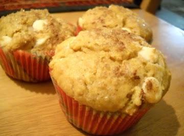 White Chocolate Pumpkin Pie Spice Muffins Recipe