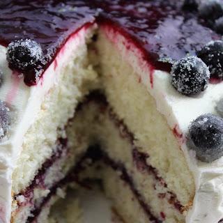Concord Grape Triple-Layered Cake.