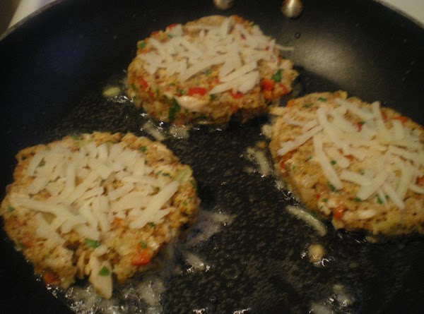 In a large skillet pour oil to 1/4 inch and set to medium low...