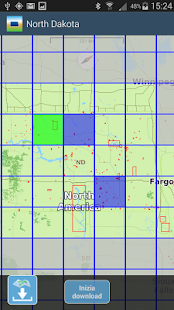 Aqua Map North Dakota Lakes - náhled