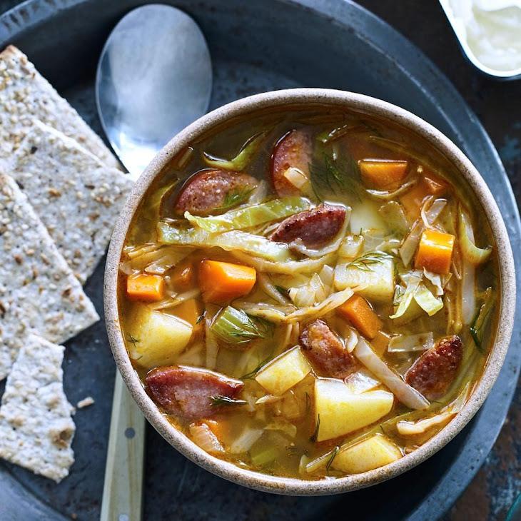Kielbasa & Cabbage Soup Recipe