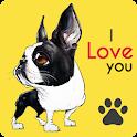 Cute Boston Terriers Wallpaper icon