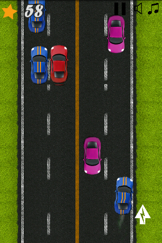 android Classic Highway Car Avoidance Screenshot 2