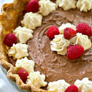 Lighter French Silk Chocolate Pie