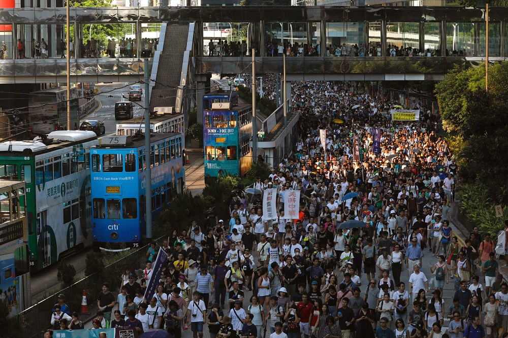 Hong Kong in technical recession after five months of protests