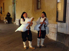 Photo: Piping out the old year in Taormina