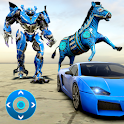 Zebra Robot Car Game: Robot Transforming Games icon