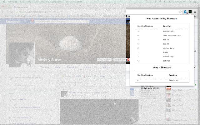 xKey: Discover website keyboard shortcuts