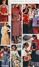 """Photo: Domowa moda z lat 70-tych XX wieku (""""Gospodyni"""" z lat 70-tych)"""