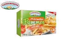 Angebot für Mikrowellen-Pommes extra dünn im Supermarkt