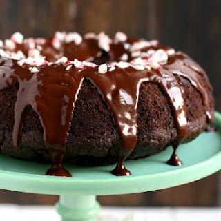 Double Chocolate Peppermint Bundt Cake.