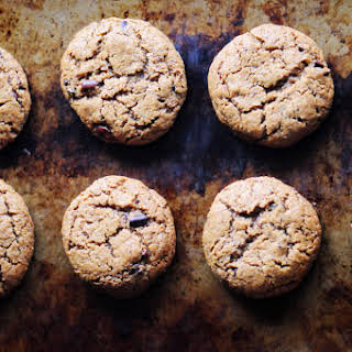 One Bowl Peanut Butter Cacao Nib Coconut Flour Cookies (Gluten-Free, Dairy-Free).
