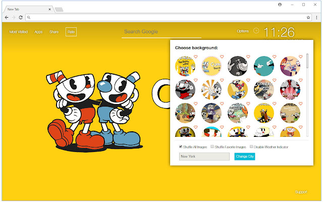 Cuphead HD Wallpapers New Tab Themes