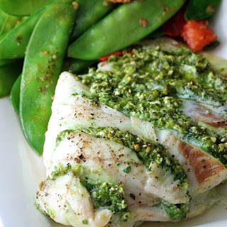 Kale and Feta Pesto Stuffed Cod