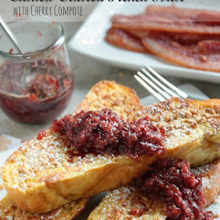 Cashew Crusted French Toast with Cherry Compote