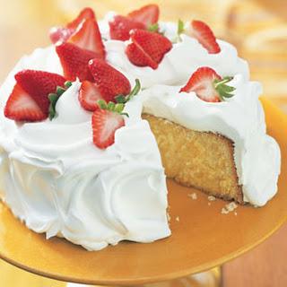 """Three Milk"" Cake with Rompope"