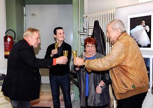 Photo: Veranstaltung am 29.3.2014 (Finissage Zeininger, Jour fixe. . Anton Cupak, Andre Comploi, Elena Habermann, Peter Skorepa. Foto: Axel Zeininger