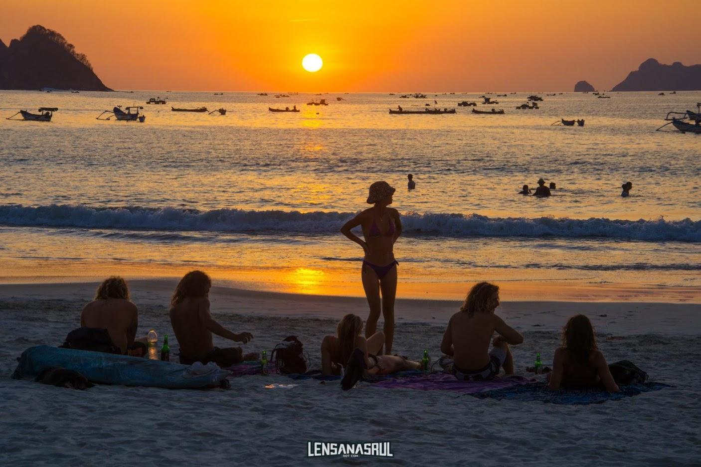 Sunset Selong Belanak Beach