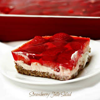 Strawberry Jello Salad.