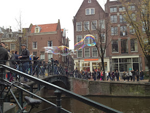 Photo: Giant bubble blower in Amsterdam