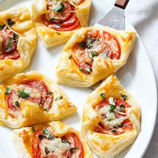 Pepperoni Basil Tomato Puffs Recipe