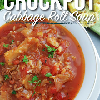 Crockpot Cabbage Roll Soup