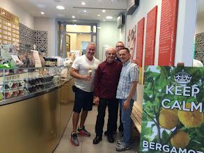 Photo: Frank, Giancarlo, Chris, and me at Pellegrino