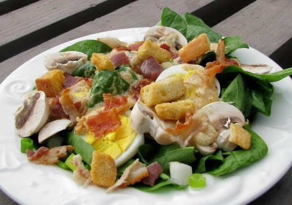 Spinach Salad With Warm Dressing Recipe