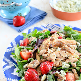 Summer Strawberry Salad with Grilled Chicken Recipe