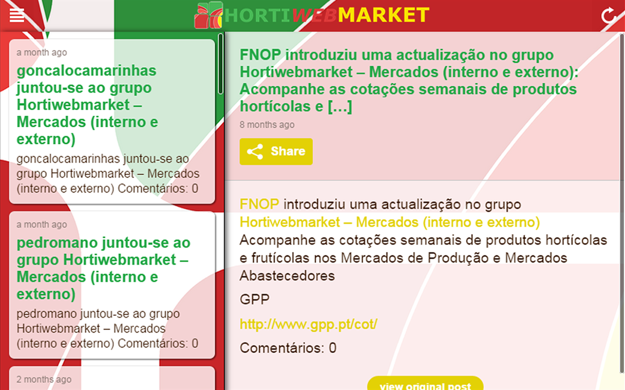 Hortiwebmarket- screenshot