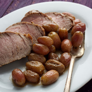 Roasted Teriyaki Pork Tenderloin With Grapes
