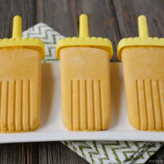 Creamy Mango Ice Pops.