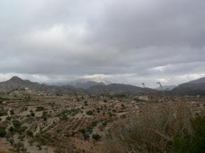 Photo: Spanien/Alicante: A - 181 bei Relleu. Blick auf die Sierra de Aitana (Urheberrecht: Robert Mayer)