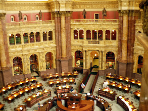 Photo: The main reading room of the Library of Congress.
