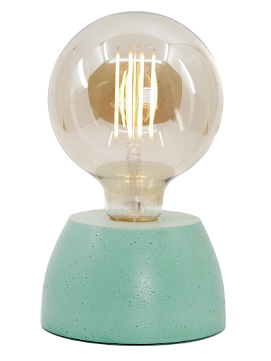 lampe béton turquoise design fait-main création made in france