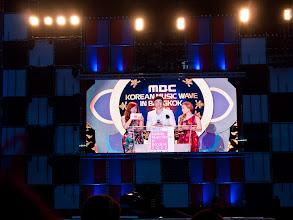 Photo: Tiffany, Taeyeon & Nichkhun MCing for the night