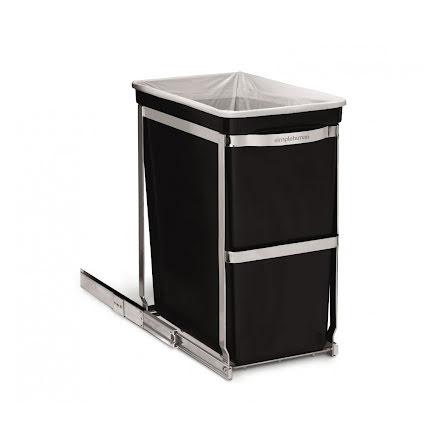 Uttdragbar inbyggnadssophink för bänkskåp, Simplehuman. 30 liter