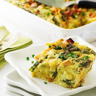 Asparagus-Ham and Gouda Breakfast Strata Recipe