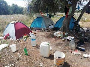 Cassibile accampamento emigrati