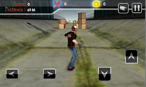 Skateboard Boy Racing