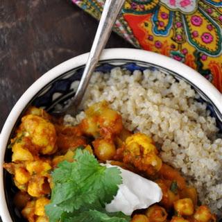 Spicy Moroccan Chickpeas with Quinoa Recipe
