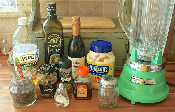 Add ingredients into a blender except oil and poppy seeds. Place on lid and...