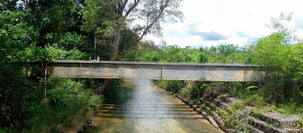 Jembatan Mangkaman Bagai Tak Bertuan, Ini Kata Kadis PUPR Bengkayang