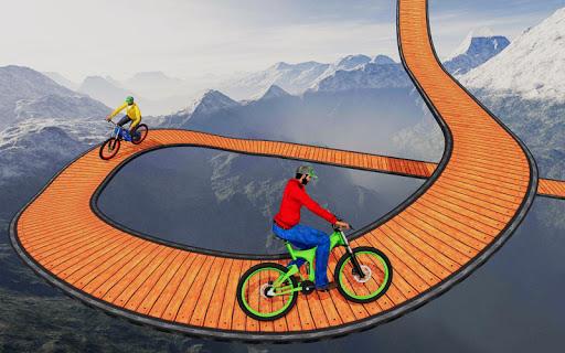 Code Triche cascade bicyclette des pistes: gratuit cycle Jeux mod apk screenshots 2