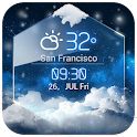 average temp &3D clock widget❆ icon
