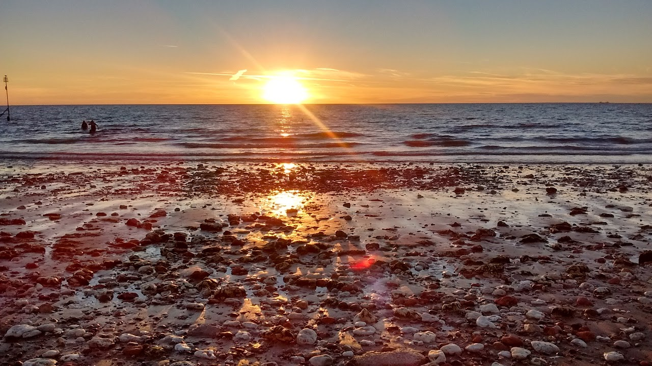 sunset Hunstanton beach