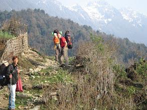 Photo: am nächsten Morger ziehen wir weiter, wir müssen etwa 1.400 m aufsteigen.