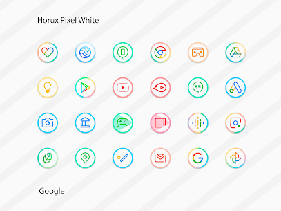 Horux White – Round Icon Pack (MOD, Paid) v2.2 3