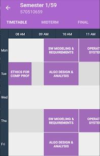 CMU Timetable - náhled