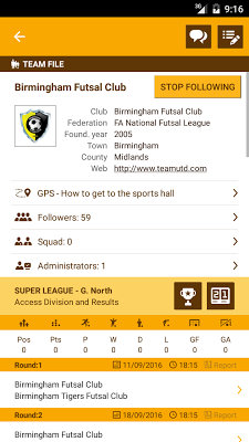 Futbee - The futsal network - screenshot